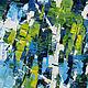 Березы березы Позитивная картина Картина мастихином Голубой белый зеленый  синий Яркая живопись картина Голубое небо