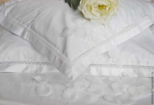 """Текстиль, ковры ручной работы. Ярмарка Мастеров - ручная работа. Купить Комплект постельного белья в деревенском стиле """"Нежность"""". Handmade."""