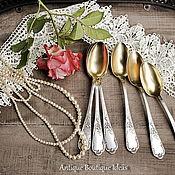 1877 - 1927 Французские антикварные чайные ложечки. Набор 6 штук.