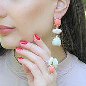 Украшения handmade. Livemaster - original item Emilia jewelry set with 925 SER0003 silver enamel. Handmade.