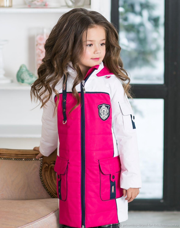 """Одежда для девочек, ручной работы. Ярмарка Мастеров - ручная работа. Купить Удлиненная куртка """"Барбери"""". Handmade. Куртка детская, флис"""
