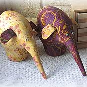 Куклы и игрушки handmade. Livemaster - original item A couple of elephants. Handmade.