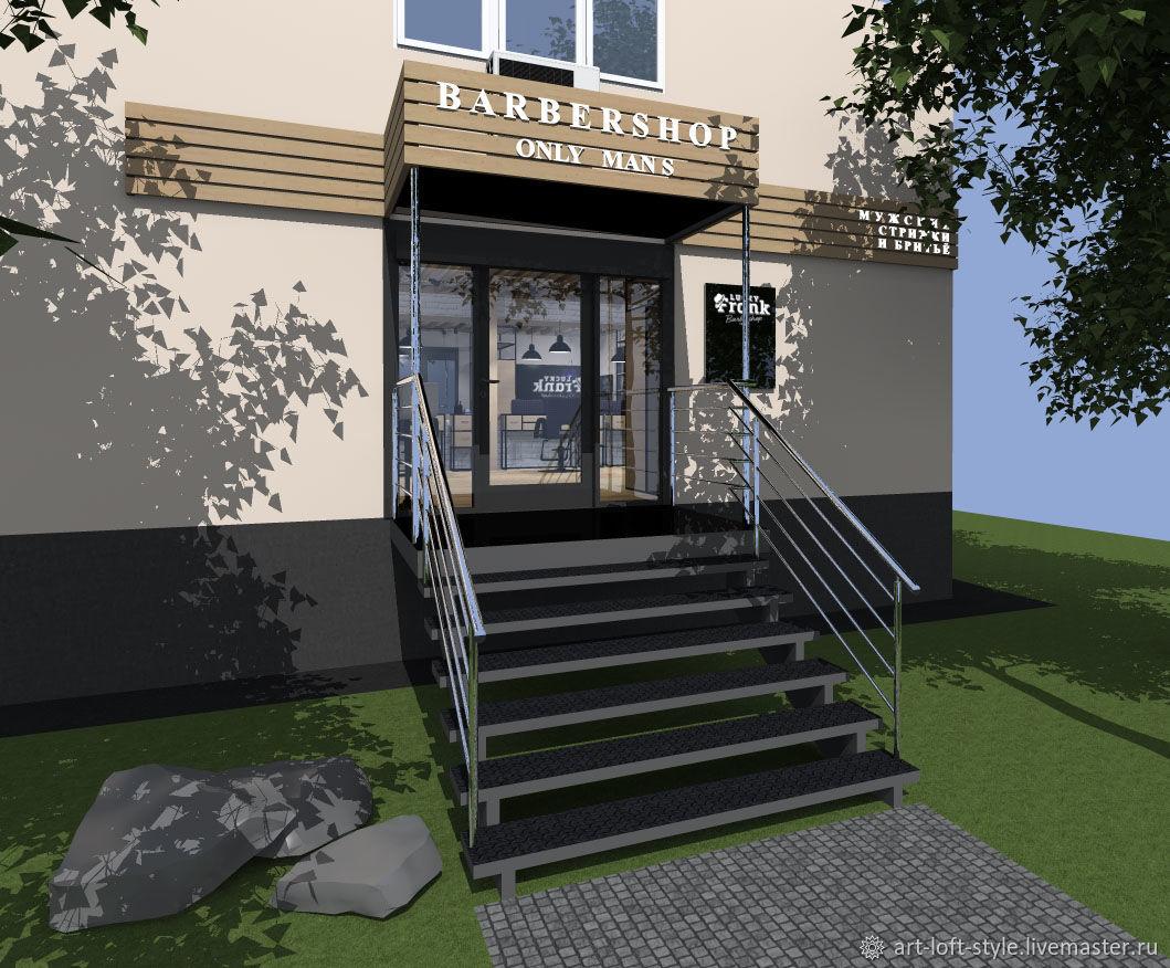 Дизайн фасада для барбершопа. Входная група - дизайн барбершопа. Барбершоп с нуля до открытия.