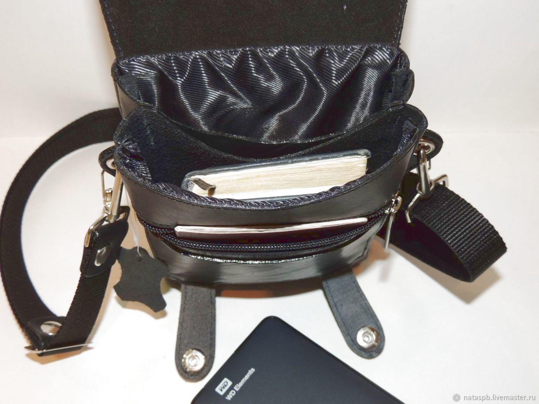 Mens Leather Bag Black Falcon Mod S59s 611 купить на Ярмарке Мастеров 38w09com Сумки St Petersburg