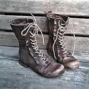 Обувь ручной работы. Ярмарка Мастеров - ручная работа Высокие кожаные ботинки La Boheme. Handmade.