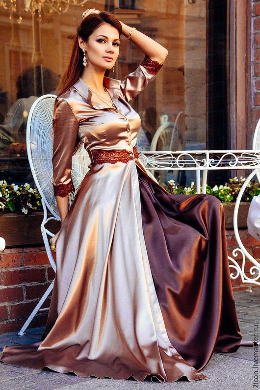 Платья ручной работы. Ярмарка Мастеров - ручная работа. Купить Савойя. Handmade. Бежевый, платье в пол