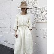 Одежда handmade. Livemaster - original item Creative linen dress. Handmade.
