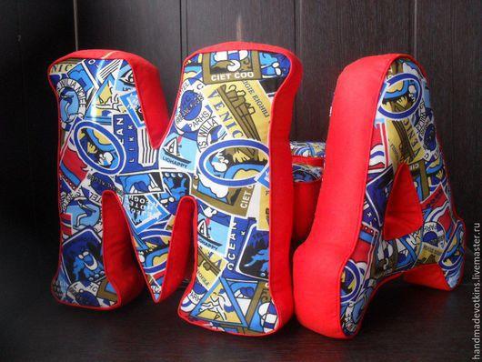 Интерьерные слова ручной работы. Ярмарка Мастеров - ручная работа. Купить Буквы подушки!!!1. Handmade. Разноцветный, игрушка, мягкая игрушка