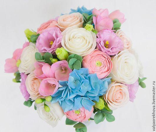 Свадебные цветы ручной работы. Ярмарка Мастеров - ручная работа. Купить Свадебный букет. Handmade. Свадебный букет, цветы из глины
