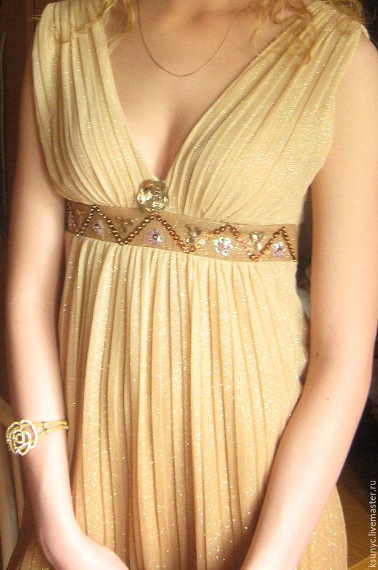 Платья ручной работы. Ярмарка Мастеров - ручная работа. Купить Платье в греческом стиле. Handmade. Золотой, Платье нарядное