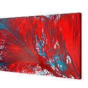 Картины и панно handmade. Livemaster - original item 143h95 Magic red large oil painting canvas. Handmade.