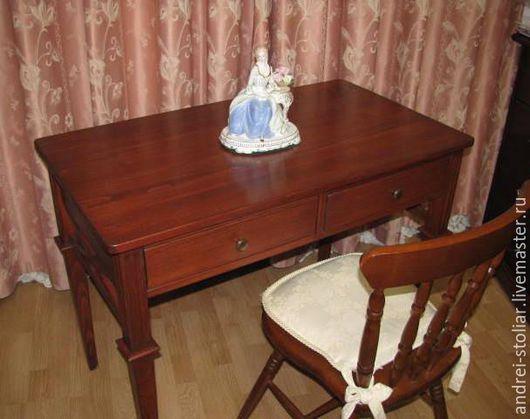 Мебель ручной работы. Ярмарка Мастеров - ручная работа. Купить Деревянный письменный стол (008). Handmade. Стол, дерево