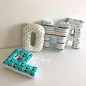 Подушки ручной работы. Ярмарка Мастеров - ручная работа Буквы подушки для мальчика. Handmade.
