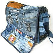 Сумки и аксессуары handmade. Livemaster - original item Messenger bag denim unisex boho. Handmade.