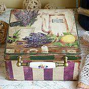 Для дома и интерьера ручной работы. Ярмарка Мастеров - ручная работа Аромат лаванды. Чайный короб. Handmade.