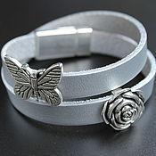 Украшения handmade. Livemaster - original item Leather bracelet winding