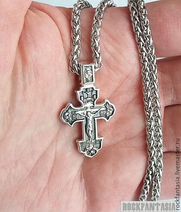 купить мужской золотой крестик в интернет магазине