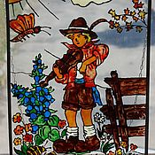 Винтаж handmade. Livemaster - original item Panel on a window or wall