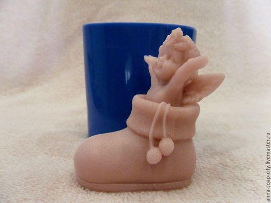 """Другие виды рукоделия ручной работы. Ярмарка Мастеров - ручная работа. Купить Силиконовая форма для мыла """"Ангел в ботинке"""". Handmade."""