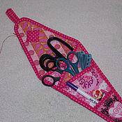 Материалы для творчества handmade. Livemaster - original item Case for scissors, organizer for needlework, pockets. Handmade.