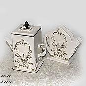 Для дома и интерьера handmade. Livemaster - original item kit : Box and napkin holder
