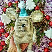 Мягкие игрушки ручной работы. Ярмарка Мастеров - ручная работа Новогодняя мышка. Handmade.