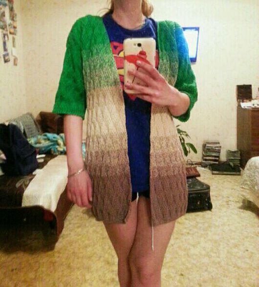 Кофты и свитера ручной работы. Ярмарка Мастеров - ручная работа. Купить Кардиган женский. Handmade. Ручная работа, хлопок 100%