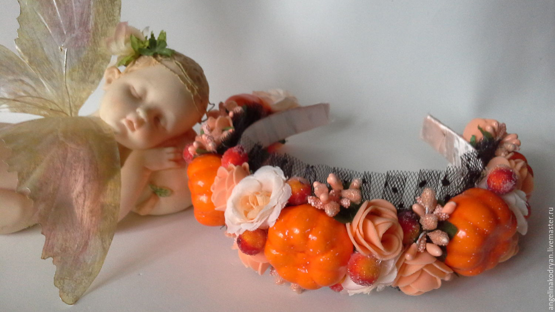 Bezel with pumpkins 'Halloween', Children\'s tiaras, Belgorod,  Фото №1