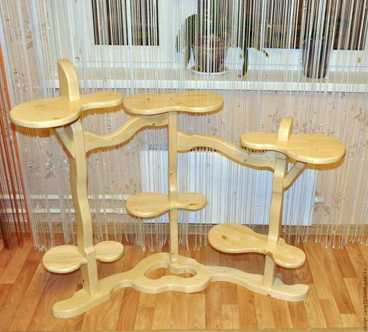 """Мебель ручной работы. Ярмарка Мастеров - ручная работа. Купить подставка цветочная многоуровневая """"Лиана-2"""". Handmade. сосна"""