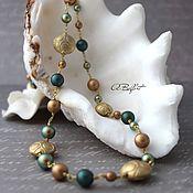 Украшения handmade. Livemaster - original item long necklace with Swarovski pearls