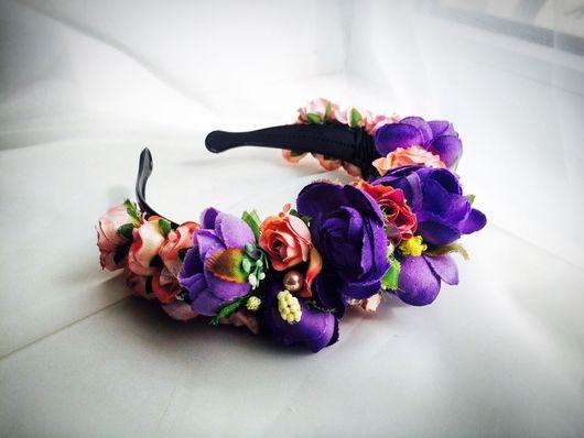 """Диадемы, обручи ручной работы. Ярмарка Мастеров - ручная работа. Купить АКЦИЯ! 10% скидка на все! Ободочек """"Miss violet"""". Handmade."""