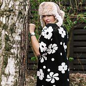 Одежда ручной работы. Ярмарка Мастеров - ручная работа Теплое платье-свитер в черном. Handmade.