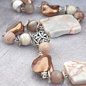 Украшения handmade. Livemaster - original item Beads from Majorca, Jasper and Sunstone