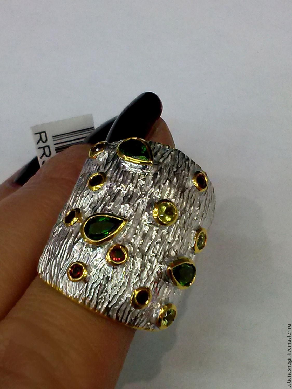Ring silver 925 , natural stones, Rings, Lytkarino,  Фото №1