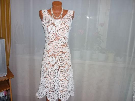 """Платья ручной работы. Ярмарка Мастеров - ручная работа. Купить Платье """" Кружель"""". Handmade. Белый, платье летнее"""