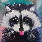Картины и панно handmade. Livemaster - original item Enotik. Painting on canvas.. Handmade.