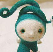 Куклы и игрушки ручной работы. Ярмарка Мастеров - ручная работа войлочная игрушка Осьминог Дара. Handmade.