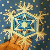 Мандала ручной работы. Ярмарка Мастеров - ручная работа Мандала снежинка. Handmade.