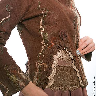 """Одежда ручной работы. Ярмарка Мастеров - ручная работа Жакет  """"Вкус шоколада"""" из валяной шерсти. Handmade."""