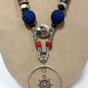 Украшения handmade. Livemaster - original item Necklace from natural materials in a marine style, the Marine travel. Handmade.