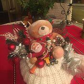 Мишки Тедди ручной работы. Ярмарка Мастеров - ручная работа Bunny Family: Новогодний мешочек. Handmade.
