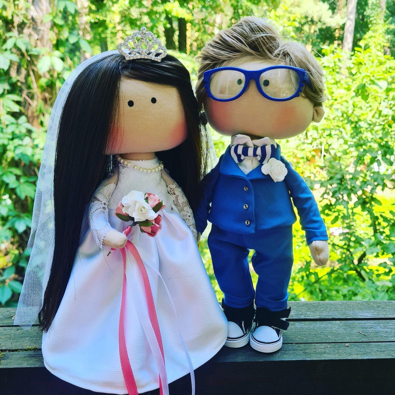 Интерьерные кукла Тильда жених и невеста, Куклы Тильда, Москва,  Фото №1