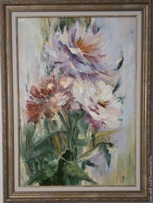 """Картины цветов ручной работы. Ярмарка Мастеров - ручная работа. Купить """"Букет"""". Handmade. Разноцветный, хризантемы, цветочный, цветы"""