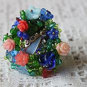 Украшения handmade. Livemaster - original item Ring flower Garden idyll. Handmade.