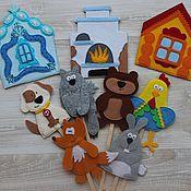 """Куклы и игрушки ручной работы. Ярмарка Мастеров - ручная работа Кукольный театр """"Заюшкина избушка"""". Handmade."""
