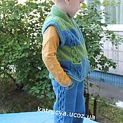 Одежда ручной работы. Ярмарка Мастеров - ручная работа Брюки джинсы спицами Жилет на застежки-молнии спицами. Handmade.