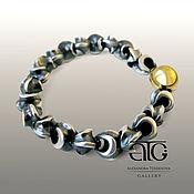 Украшения handmade. Livemaster - original item Textured bracelet solid silver 925 PR. Handmade.