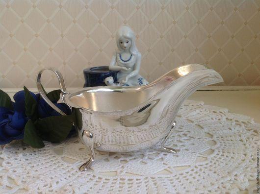 Винтажная посуда. Ярмарка Мастеров - ручная работа. Купить Соусник, соусница, серебрение. Англия. Handmade. Серебрение