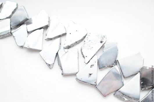 Для украшений ручной работы. Ярмарка Мастеров - ручная работа. Купить Гематит цвет серебро кусочек 28х24мм. Handmade. Гематит