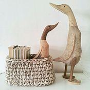 Для дома и интерьера ручной работы. Ярмарка Мастеров - ручная работа Корзина овальная. Handmade.